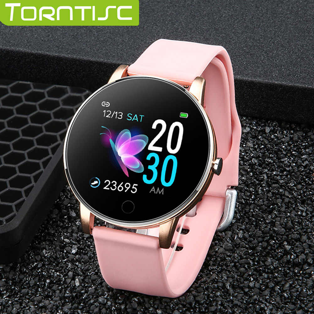 Torntisc New 1.3 inch Women Smart Watch Men Waterproof Heart Rate Monitor Calories Smartwatch Women For Android IOS Phone