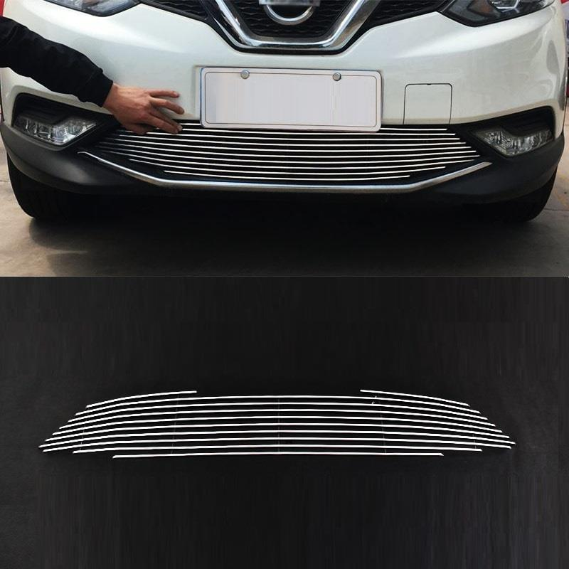 Grille automobile decorative car styling covers modification decoration accessories sticker strip 16 17 FOR Nissan Qashqai automobile car styling accessories chromium 2014 17 modified bumper grille trim strip grid decorative bright for toyota vios