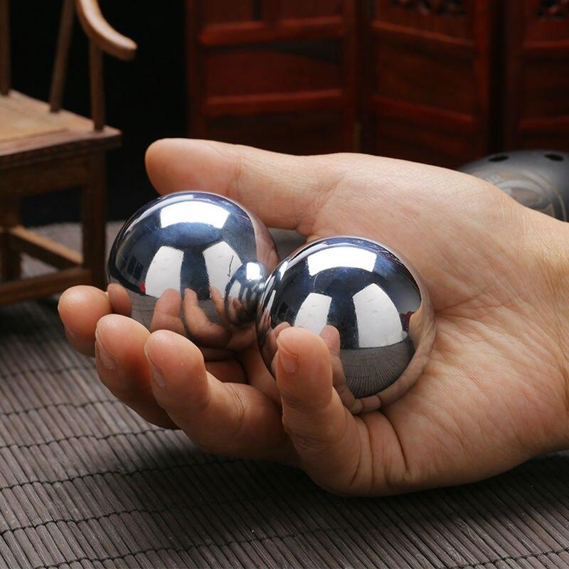 DéLicieux 1 Paire (2 Pièces) 304 Acier Inoxydable 35mm Main Et Poignet Renforcement Baoding Boules Solides ModéLisation Durable