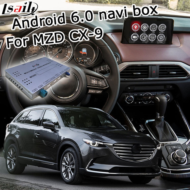 Android 6 0 GPS navigation box for Mazda CX 9 with joystick control Carplay  youtube google play video interface box waze yandex-in Vehicle GPS from