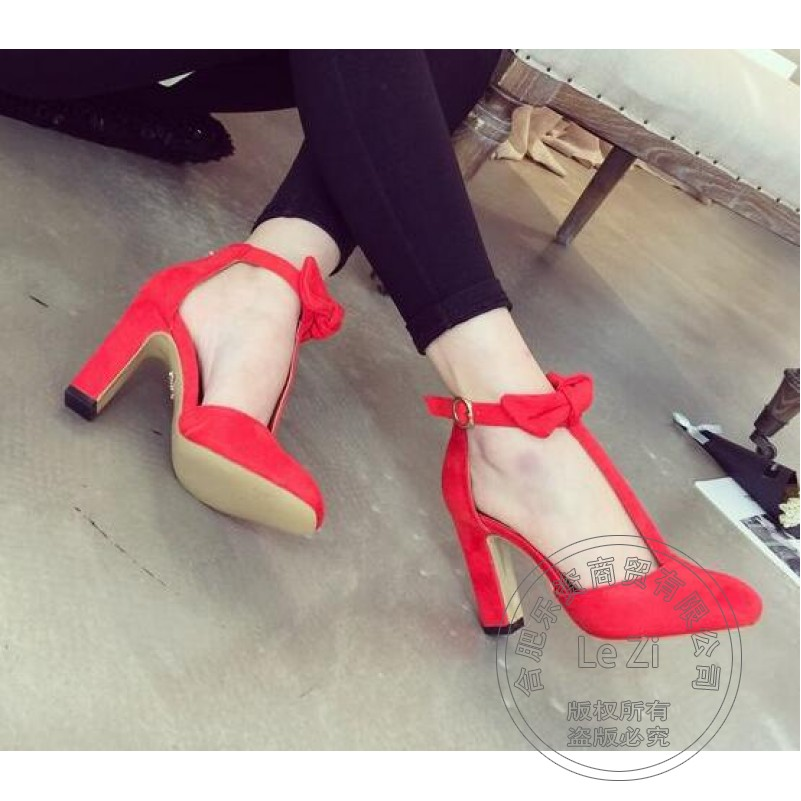 Square Heel Casual Soft Leather Shoes font b Woman b font Lightweight Lolita Pump Suede Shoes