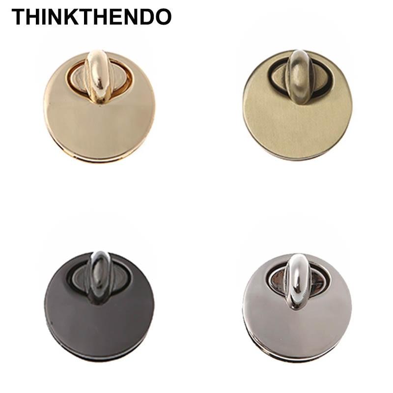 Round Shape Metal Twist Lock DIY Bag Purse Luggage Accessories Switch Button