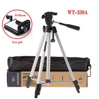 Universal Portable Aluninum 330A Pro Light Stand Tripod for Digital SLR Camera Camcorder Lightweight 53 Inch Three way Head