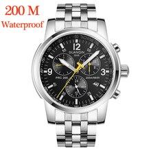Relogio Masculino GUANQIN механические Автоматические наручные часы 200 м часы для плавания водонепроницаемые Дата новые спортивные полностью стальные guanqin
