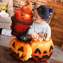 Plush Toy Funny Expression Halloween pumpkin Sofa Pillow Cushion Cartoon Creative Doll Home Decoration Children Birthday Gift