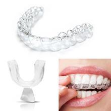 1 пара силиконовых покрытий для зубов, ночная Защита рта для зубов, шлифовальный стоматологический инструмент для укуса и сна, отбеливающий поднос для зубов