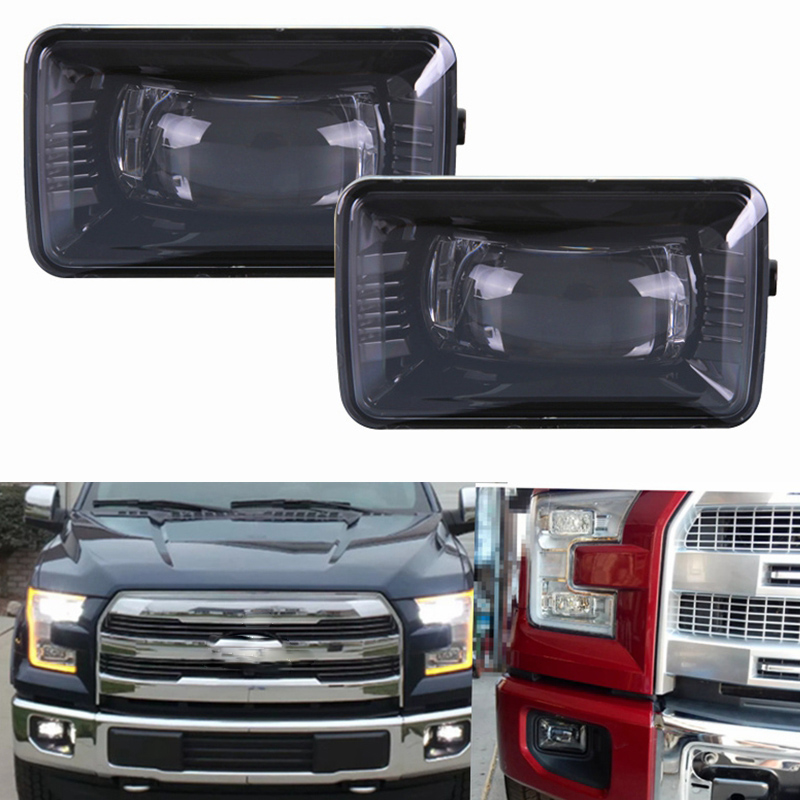 Pair For Ford F150 2015 2016 2017 Projector Round LED Fog Lights