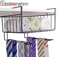 BalleenShiny Iron Over Door Storage Rack Kitchen Cabinet Drawer Organizer Multipurpose Door Hanger Storage Basket Kitchen
