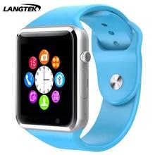 Langtek smart watch a1 bluetooth deporte podómetro sim/tf bluetooth smart watch watch para apple & smartwatch android iphone