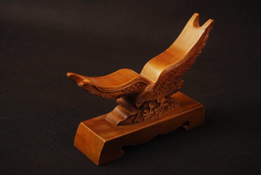 Délicat bois artisanat Hawk motif sculpté bois support support présentoir japonais samouraï épée exquise Collection SDJ07B-in Épées from Maison & Animalerie    3