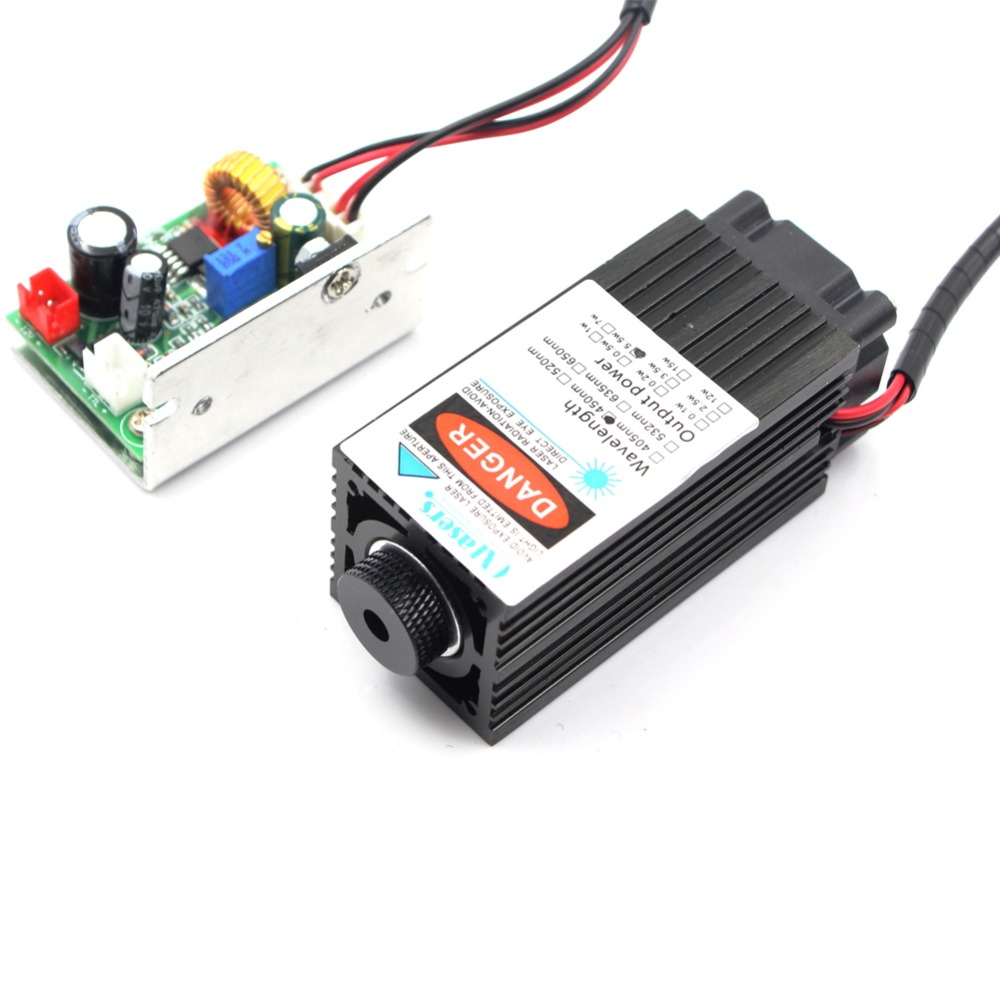 oxlasers 12V 5W 5.5W focusable blue laser head for DIY laser engraveing machine laser module for cutting with TTL control