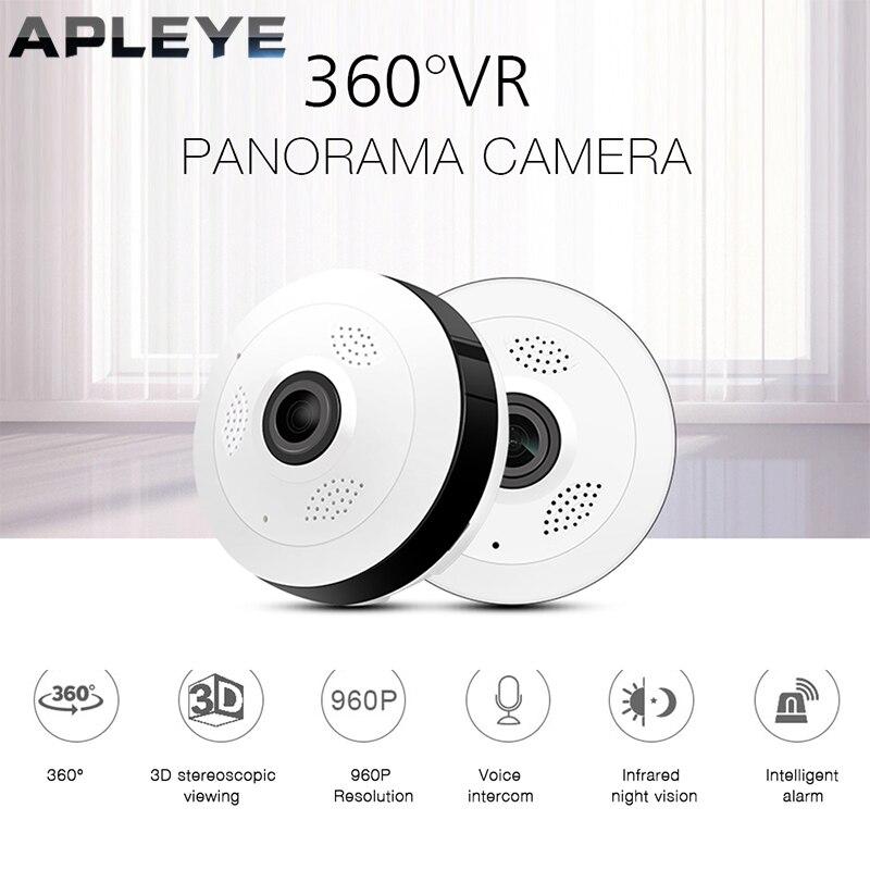 APLEYE Mini 1080 p cámara IP V380 panorámica de 360 grados inalámbrico Fisheye cámara IP P2P 960 p HD seguridad inicio Wifi Cámara
