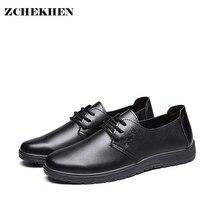 Mâle Doux Robe En Cuir Chaussures à lacets Appartements Casual Chaussures Hommes Semelle Molle Commerciale Travail Chaussures pour Hommes Père cadeau