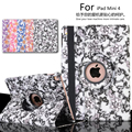 Auto Sleep 360 degree Blue and white porcelain Rotating Cover Stand case For apple iPad Mini4 Mini 4 Case cover + Pen