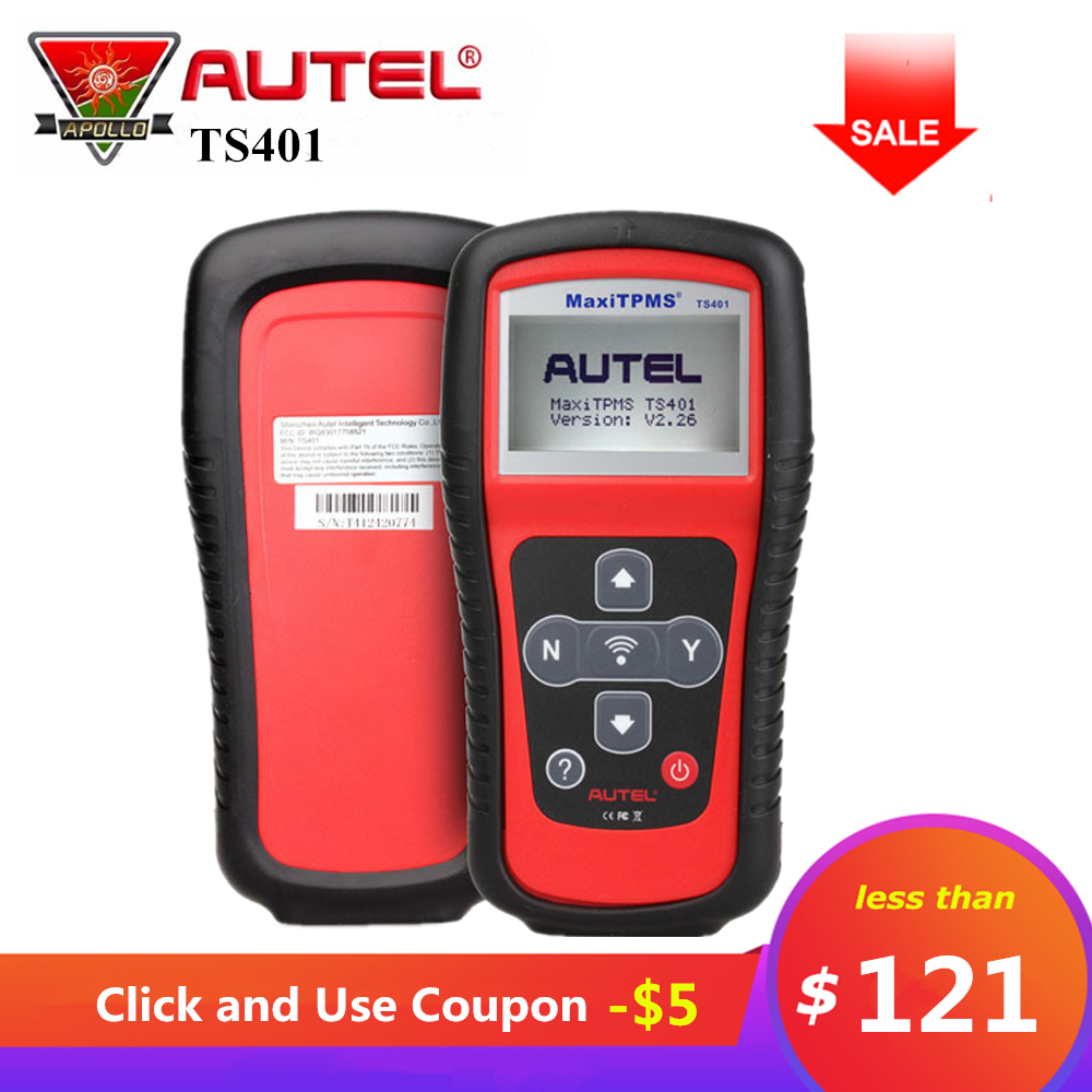 Autel Maxitpms TS401 TPMS Outil De Diagnostic Recevoir 315 mhz 433 mhz Capteur Signaux Pneu Pression Testeur Activer Réapprendre Capteur Outil