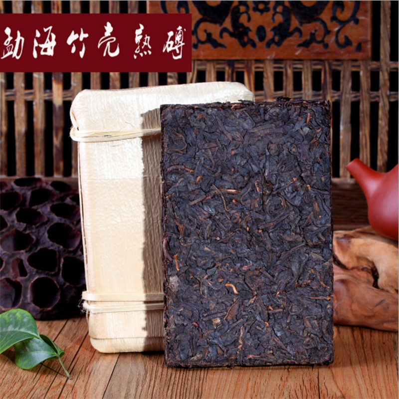 Made in 1980 ripe pu er tea,200g oldest puer tea,green health food, small puerh brick tea,ancient tree,Black tea, free shipping