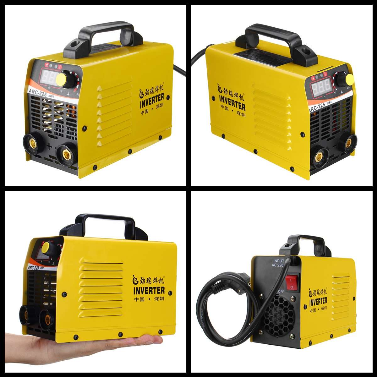 10-225A ARC-225 25KVA Handheld Mini MMA IGBT Inverter 220 V Mini Elektrische ARC Schweißen Schweißer Inverter Maschine Werkzeug