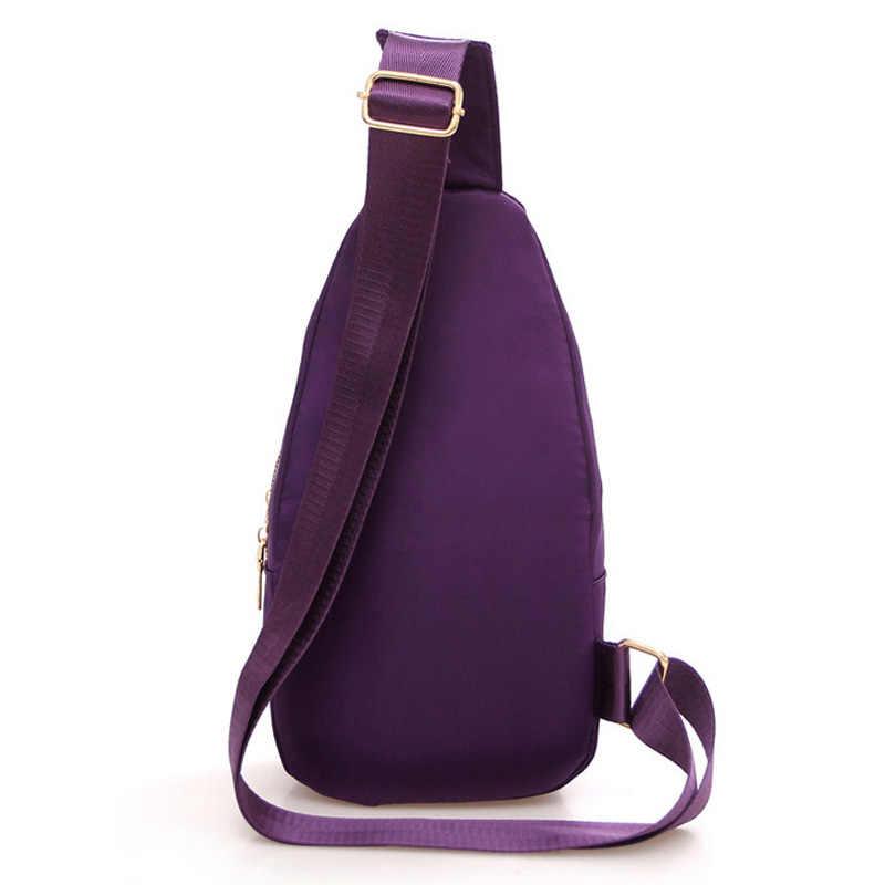Novo 2019 mulheres sacos de peito casual crossbody messenger bags para senhoras náilon à prova dsmall água pequeno corpo cruz sling ombro sacos