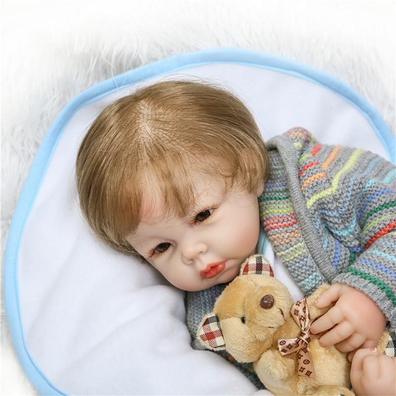 2050cm Soft Silicone babies Reborn Dolls handmade popular toy Lifelike Baby Alive vinyl newborn Dolls Kids Playmate real reborn