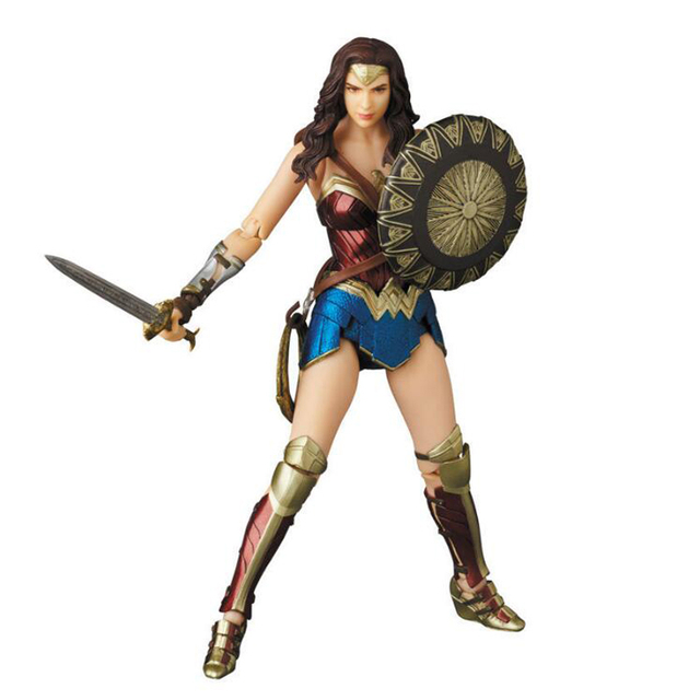 Wonder Woman action Figure Movable PVC 048# action figures collectible model toy 15cm with box gifts Y7737