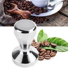 Hot 49mm Edelstahl Moderne Espresso Kaffee Tamper DIY Kaffeebohne Presse Flachen Basis Hammer LXY9 DE1717