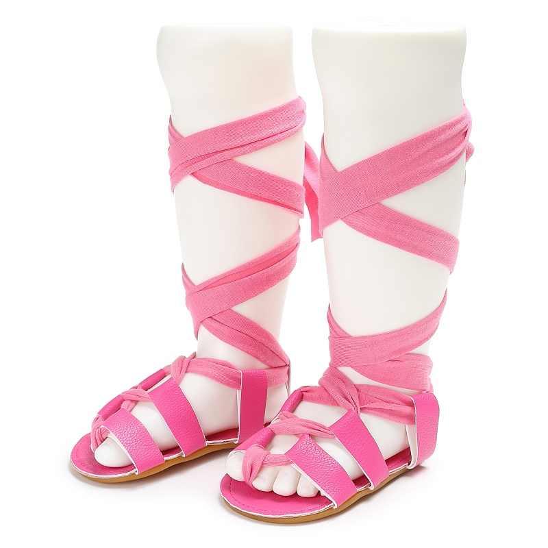 2019 Mùa Hè Da bò Cao Cấp-Thời trang hàng đầu La Mã Dép bé gái trẻ em Võ sĩ giác đấu giày sandal tập đi cho bé Giày sandal bé gái chất lượng cao Giày