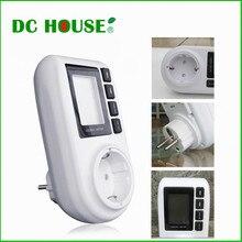DC ДОМ 184 В до 276 В Электрической Энергии Метр Розетки Монитор 230 В AC Ваттметр с жк-дисплей индикатор тревоги