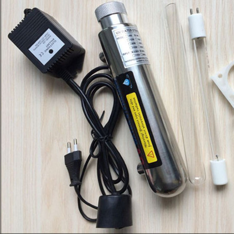 UV Water Sterilizer Ultraviolet Tube Lamp Direct Drink Water Disinfection Treatment Filter Aquarium Fish Tank Purifier 12W