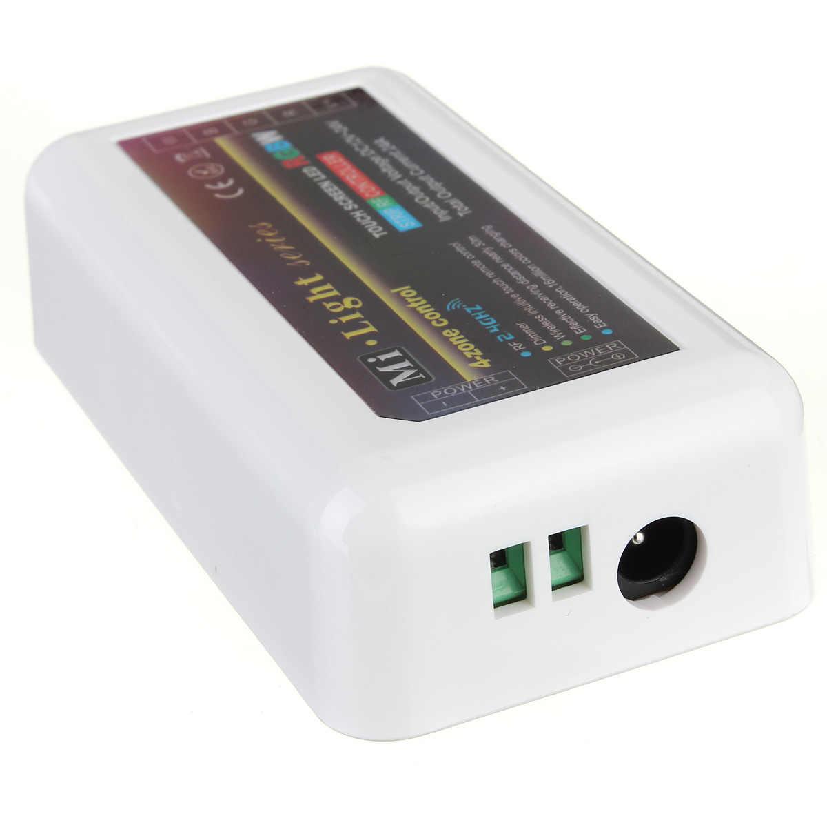 2.4G sans fil mi-lumière RF télécommande 4 zones WiFi RGBW WW/CW contrôleur de bande de LED RGB