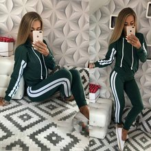 ZOGAA 2019 New Women Casual Tracksuit Two Piece Female Set Slim Fit Sportswear 2 Piece Sport Track Suit Women's Jogging Suits(China)