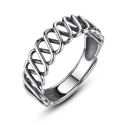 MSXNEOW Criss-Crossing Weaving Knot Retro Trending Wide 925 Sterling Silver  Rings for Men   Women Fine Jewelry High QualitSR0153 48943a99a