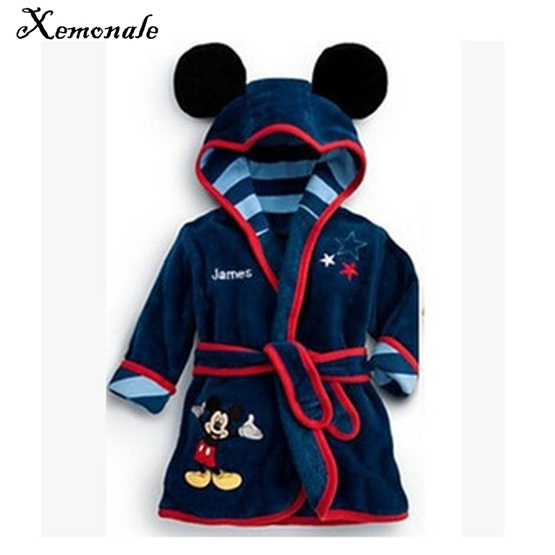 Xemonale 2017 Children's boy and girl Pajamas robe kids Minnie Bathrobes Baby homewear Boys girls Cartoon Home wear retail