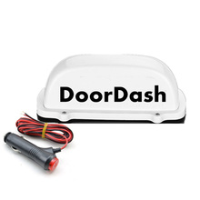 цена на 1 pcs doordash Taxi Top Light New LED Roof doordash Sign TOP light 12V with Magnetic Base white 3M charger line