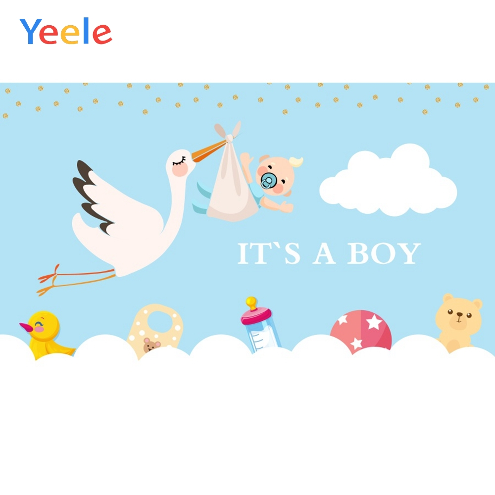 Yeele <font><b>Boy</b></font> <font><b>Baby</b></font> <font><b>Shower</b></font> <font><b>backdrop</b></font> Cloud Crane Nice Toys Photography <font><b>Backdrop</b></font> Personalized Photographic Backgrounds For Photo Studio image