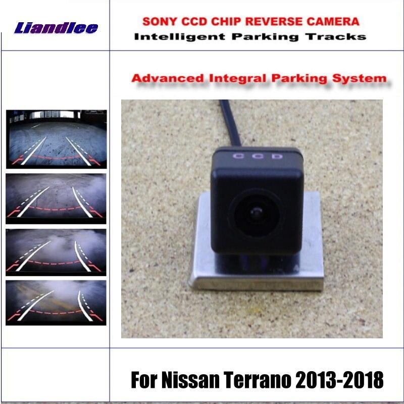 HD CCD SONY Rear Camera For Nissan Terrano 2013-2018 Intelligent Parking Tracks Reverse Backup / NTSC RCA AUX 580 TV Lines цена 2017