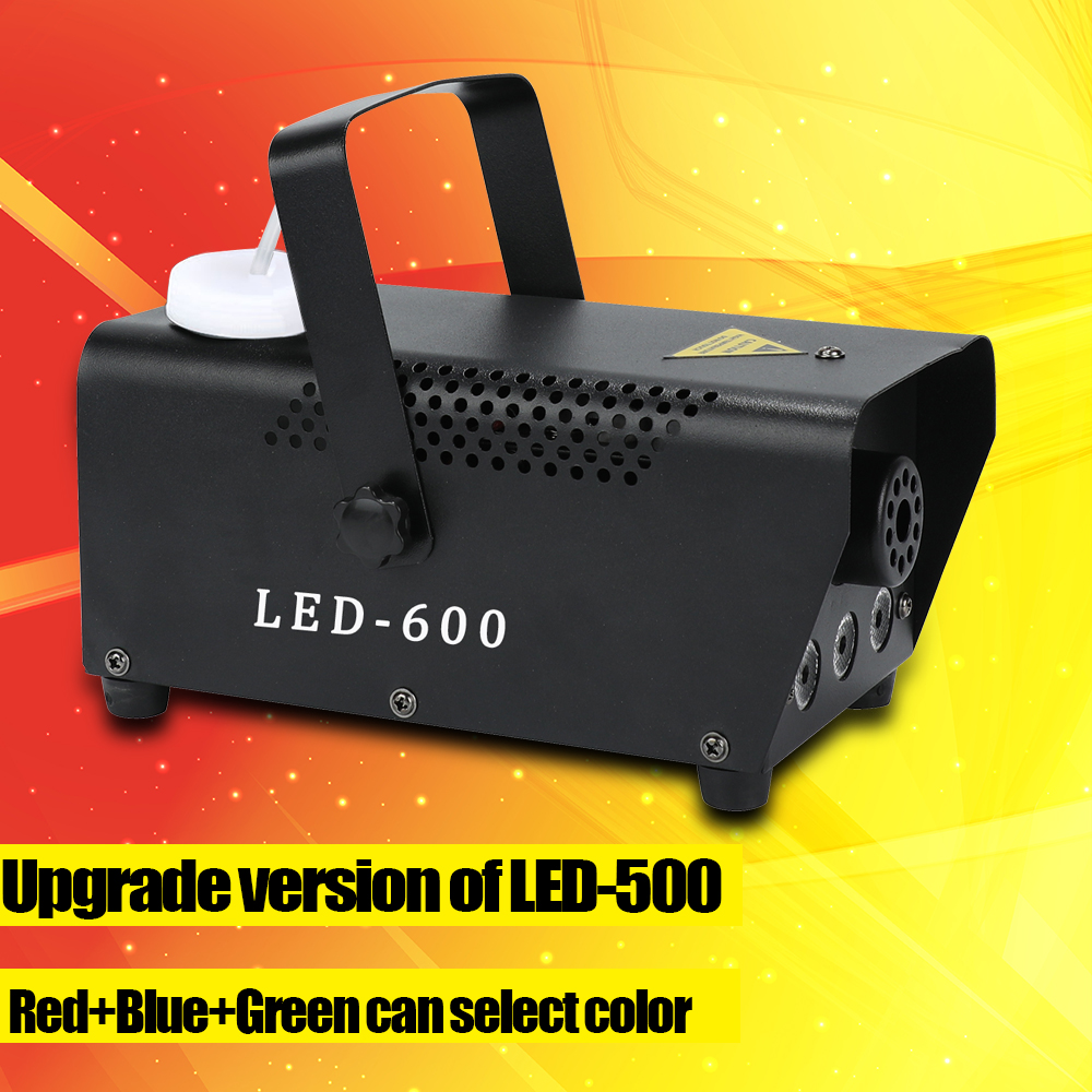 Upgrade Version LED-600 Fog Machine Wireless Control 500W DJ Party Stage Light RGB Color Select Disco Home Party Smoke Machine