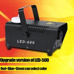 Versão de atualização LED-600 máquina de Fumaça de controle sem fio 500W disco DJ party stage luz RGB color select casa máquina de fumaça partido