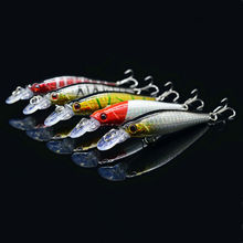 5Pcs/set 8cm Fishing Lures Minnow Baits Bass Crank Hook Bass Tackle Fish Sports Accessory