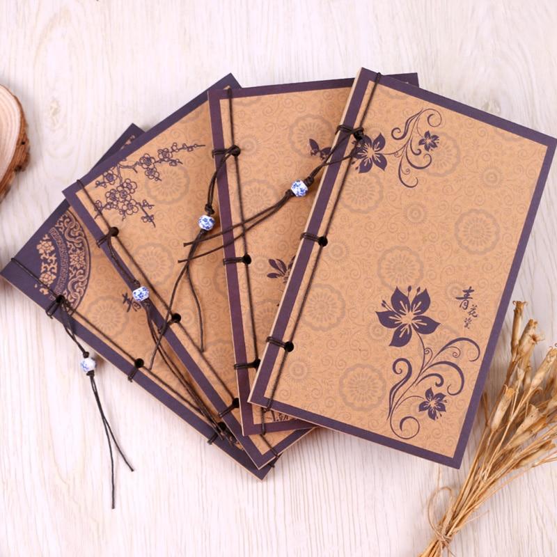 Vintage Handmade Binding Drawing Sketch Papers Journal Perso