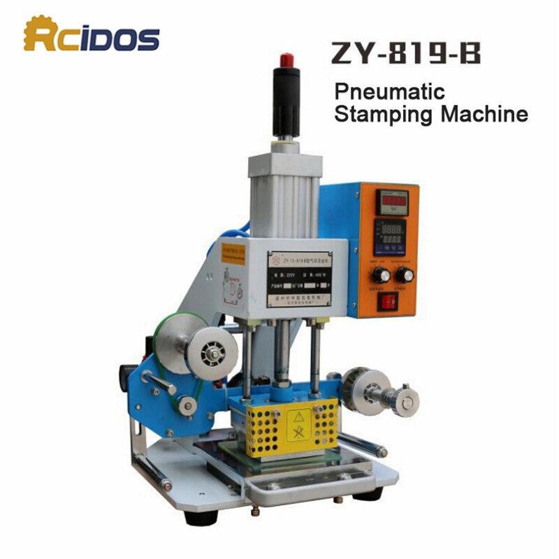 ZY 819 B Pneumatic Stamping Machine,RCIDOS leather LOGO printer,pressure words machine,name card stamping machine(220V/50Hz)