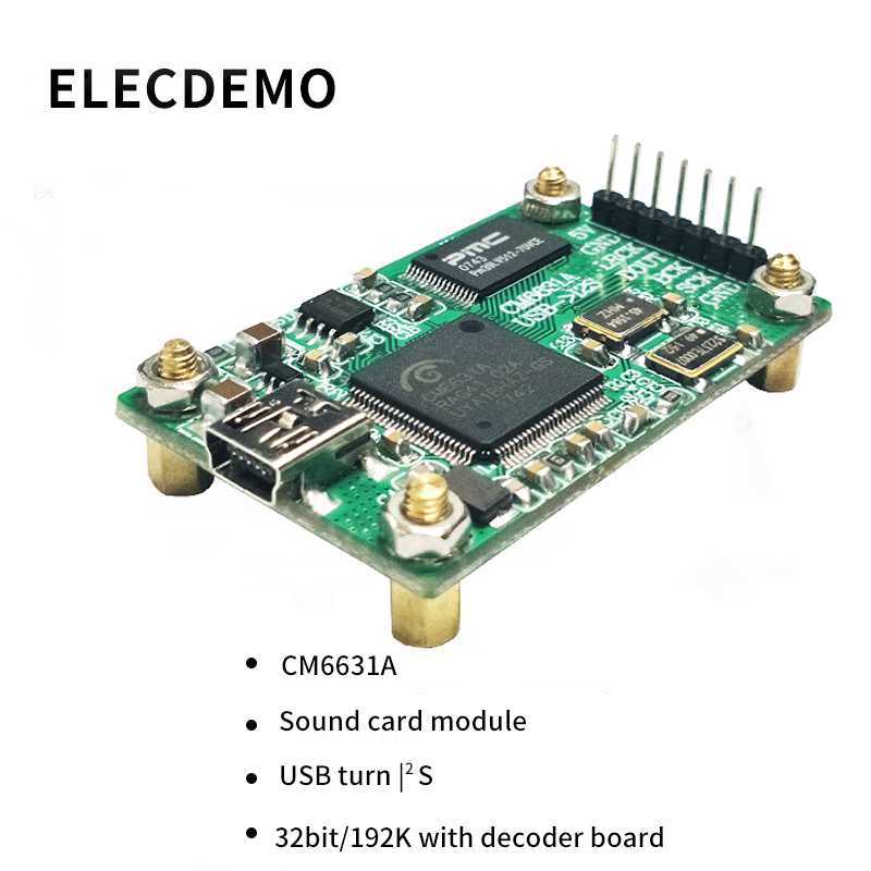 Image 2 - CM6631A Module sound card module digital interface USB to I2S 32bit/192K with decoder board HIFI Function demo Board-in Demo Board Accessories from Computer & Office