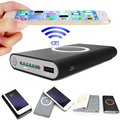 8000mAh Wireless Charging Pad Charger Power Bank + Coil Receiver for Samsung Note 4 3 2 S3 S4 S5 for iPhone 6 6S Plus 5 5S SE 5C