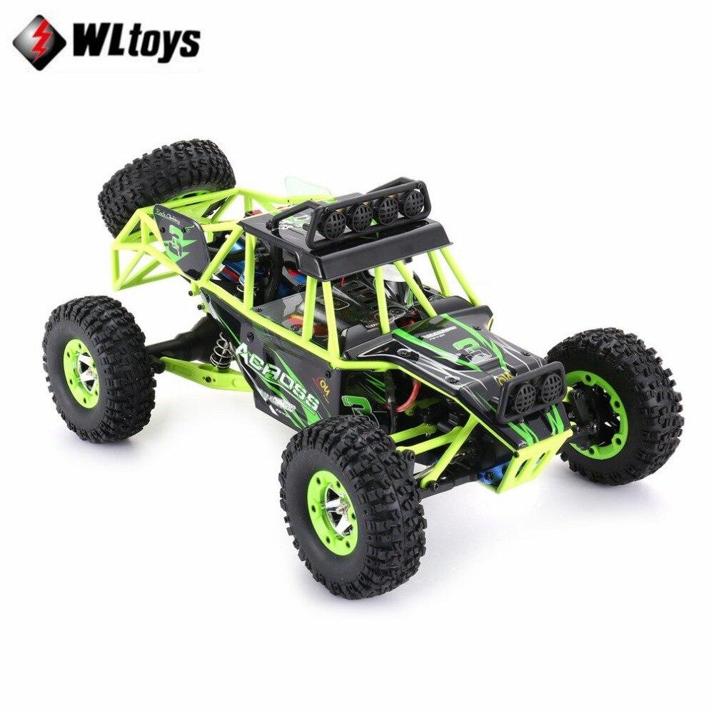 Оригинальный Wltoys 12428 RC автомобиль 1/12 Масштаб 2,4 г 4WD пульт дистанционного управления автомобиля 50 км/ч/высокая скорость RC альпинистский авто...