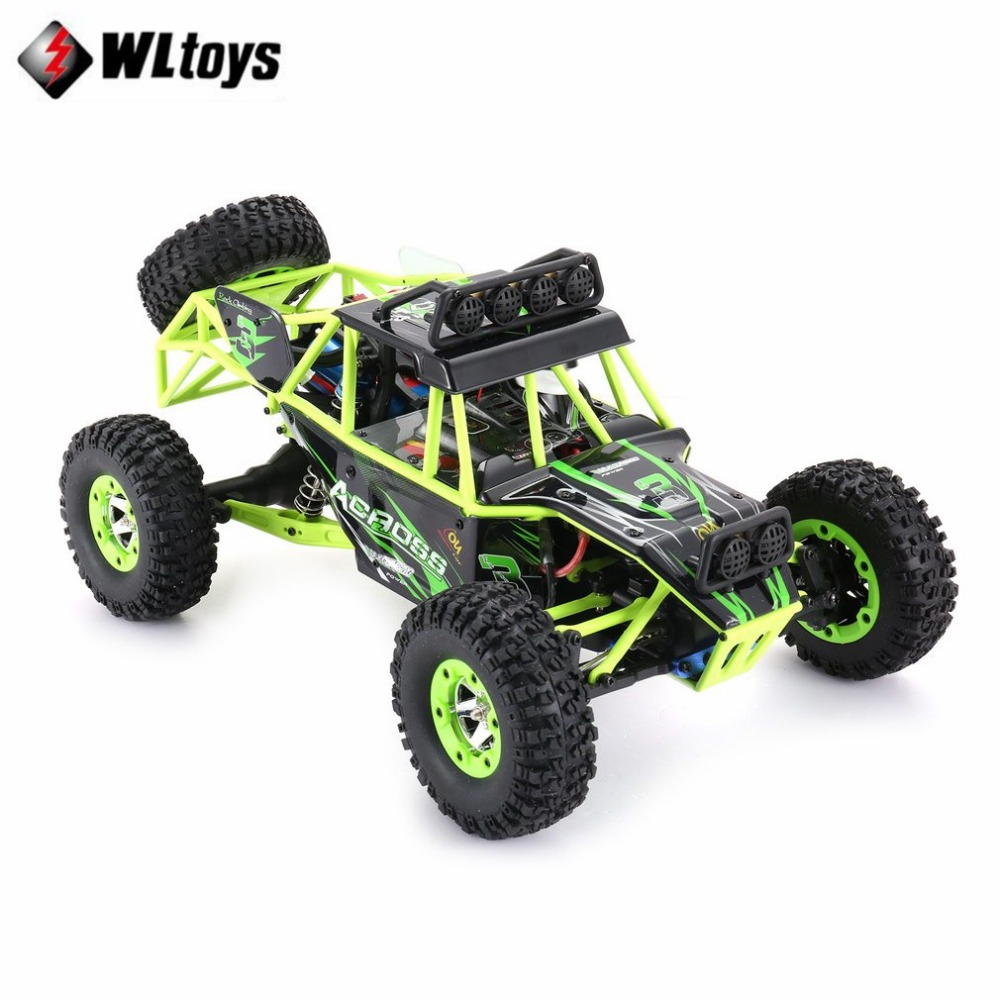 Original Wltoys 12428 RC Car 1/12 Scale 2.4G 4WD Remote Control Car 50KM/H High speed RC Climbing Car Off-road vehicle fi