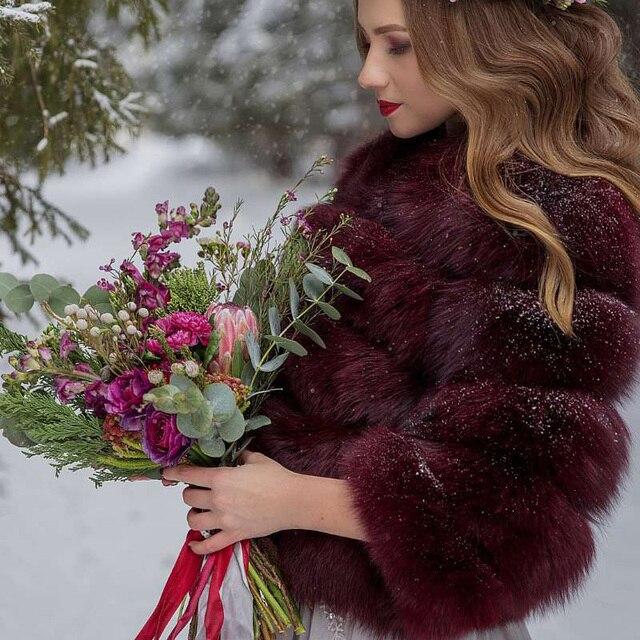 ZiZhen Natural Fur Coat Genuine Fox Fur Winter Warm Coat For Women Real Fox Fur Women's Jacket Plus Size 130912-2
