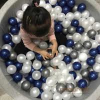 80 pièces par Lot argent or souple en plastique ToyBalls piscine d'eau océan vague balle bébé drôle jouets Stress Air balle plein Air Fun Sports