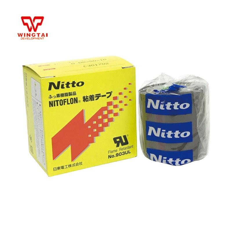 5 Roll/lot T0.08mm*W50mm*L10m Nitoflon Tape 903UL NITTO DENKO Adhesive Tapes