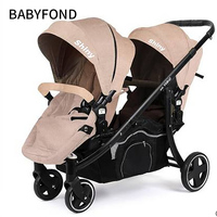 Double seat stroller for twins,baby car two way light folding four wheel baby stroller