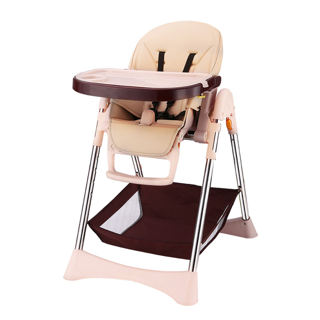 Adjustable Baby High Chair Feeding,Child Portable Dining Chair Booster Seat  Folding Eat Table