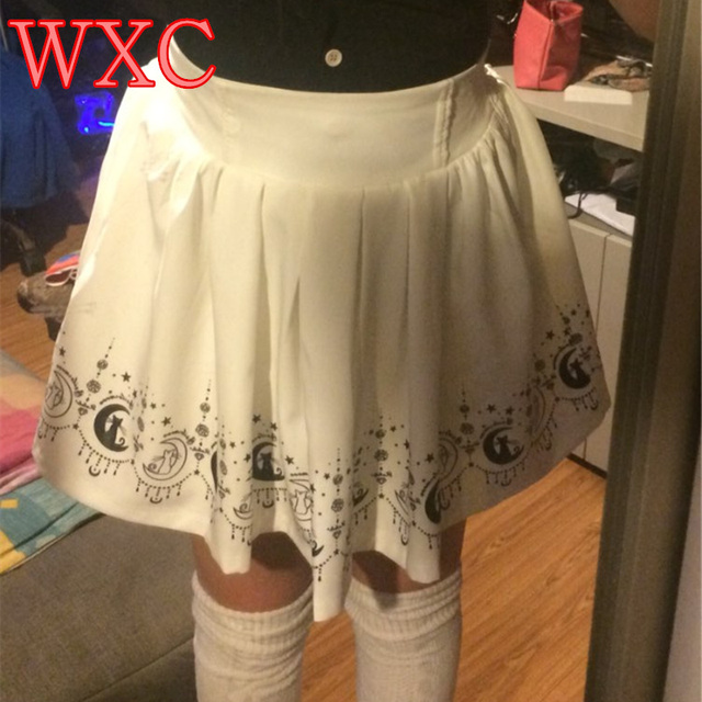 6d5ccbdf4 Girl's Sailor Uniforms A line Skirts With Bow School White Skirts Ladies  Saia For Woman Japanese
